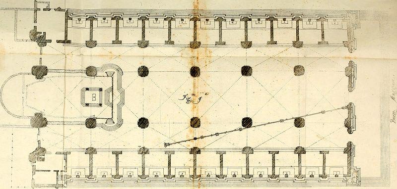 Giovanni Domenico Cassini's Grundriss der Kirche San Petronio
