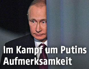 Russlands Präsident Wladimir Putin bei der Jahrespressekonferenz