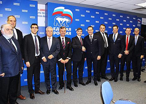 FPÖ-Delegation trifft in Moskau Miglieder der Putin-Partei