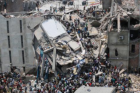 Eingestürzte Fabrik in Bangladesch