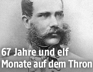 Portrait zeigt Kaiser Franz Josef, 1865