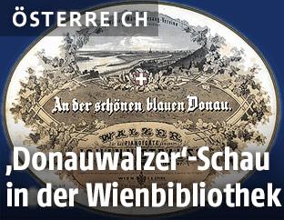 Plakat des Donauwalzers