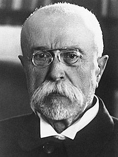 Der erste Präsident der Tschechoslowakei, Tomas Garrigue Masaryk