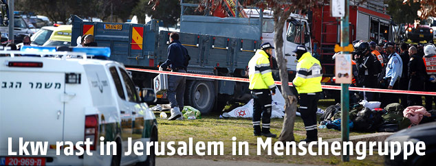 Einsatzkräfte in Jerusalem