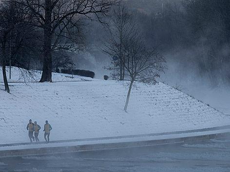 Schnee in Litauen