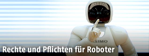 Roboter zeigt eine menschliche Geste