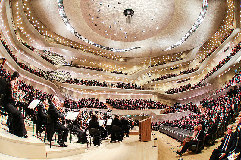 Konzertsaal in der Elbphilharmonie in Hamburg
