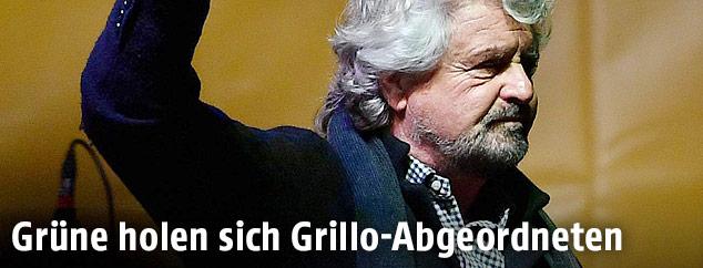 Chef der Fünf-Sterne-Bewegung in Italien, Beppe Grillo