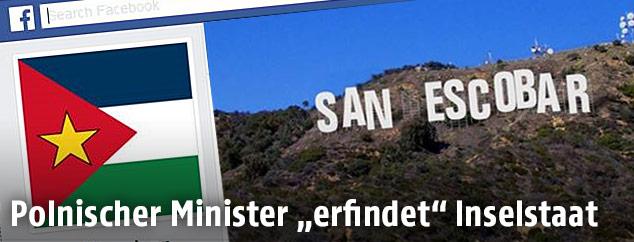 """Facebook-Seite """"San Escobar"""""""