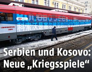 Erster serbischer Personenzug ins Kosovo