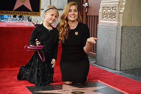 Amy Adams mit ihrer Tochter auf dem Walk of Fame
