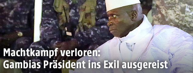 Der abgewählte gambische Machthaber Yahya Jammeh