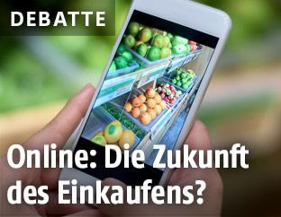 Lebensmitteleinkauf mit dem Smartphone