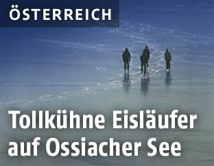 Eisläufer auf dem Ossiachersee