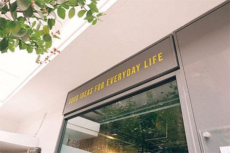 Eine Filiale der School of Life in Seoul, Korea