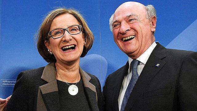 Johanna Mikl-Leitner und Erwin Pröll