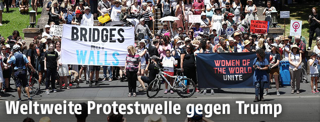 Protestmarsch gegen Trump in Sydney