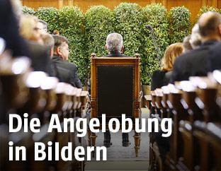 Bundespräsident van der Bellen im Rahmen seiner Angelobung