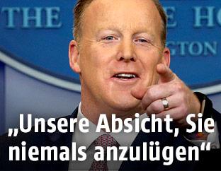 US-Präsidialamtssprecher Sean Spicer