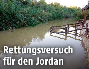 Blick auf den Jordan-Fluss