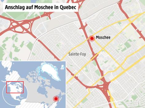 Karte von Quebec