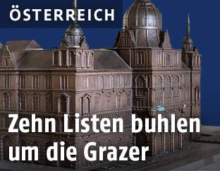 Model des Grazer Rathauses