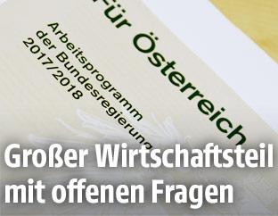 """Das Deckblatt """"Arbeitsprogramm der Bundesregierung 2017/2018"""""""