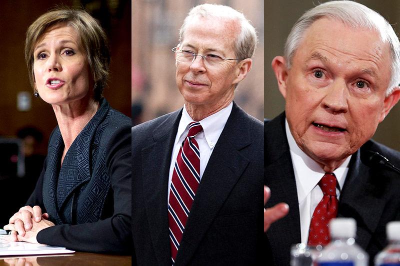 Sally Yates, Dana Boente und Jeff Sessions