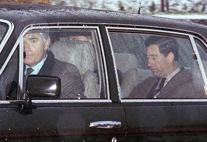 Prinz Charles nach der Scheidung von Diana in einem Auto