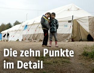 Kinder in einem Flüchtlingscamp