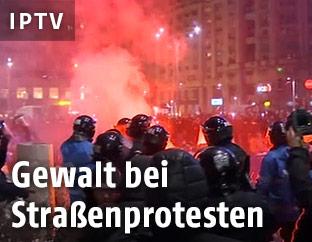 Polizisten in Bukarest