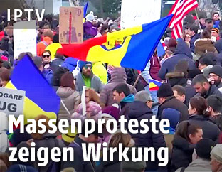 Demonstranten in Bukarest