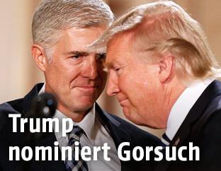 Präsident Trump und Richter Gorsuch