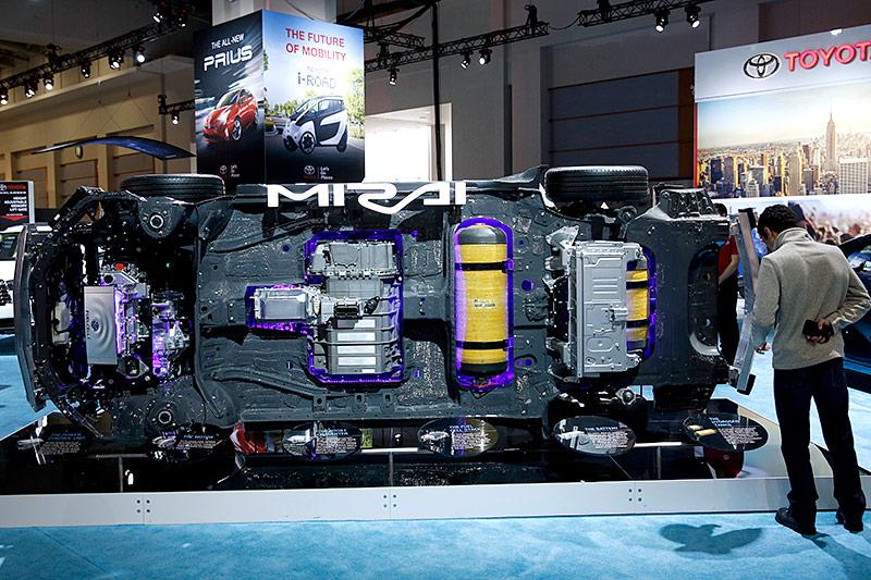 Antriebseinheit eines Wasserstoffautos