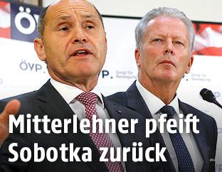 Wolfgang Sobotka und Reinhold Mitterlehner
