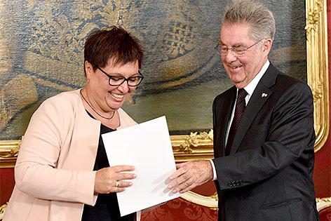 Sabine Oberhauser und Heinz Fischer