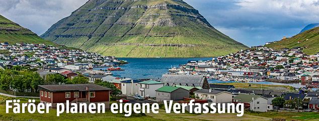 Blick auf Klaksvík