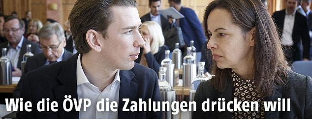 BM Sebastian Kurz (ÖVP) und BM Sophie Karmasin (ÖVP)