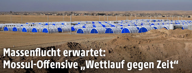 Neues Flüchtlingslager südlich von Mossul