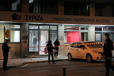 Anschlagsort in Athen
