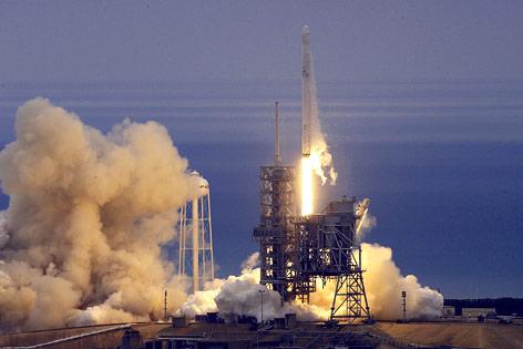 Start der SpaceX-Rakete