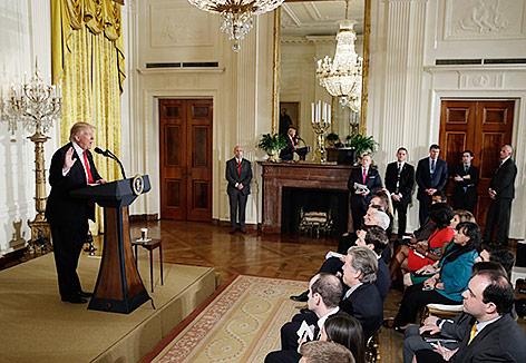Pressekonferenz von US-Präsident Trump