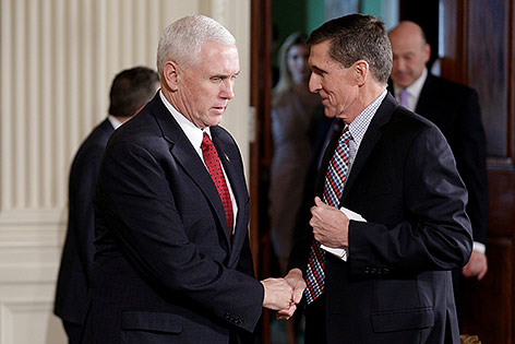 Mike Pence und Michael Flynn