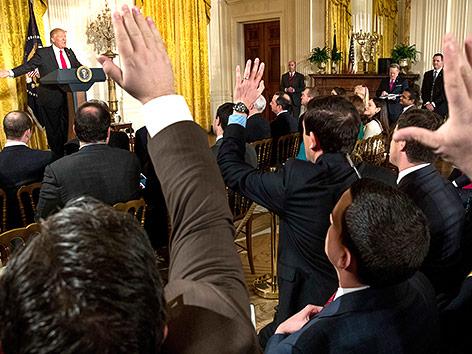 Pressekonferenz mit Präsident Trump