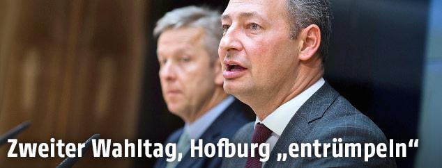 Andreas Schieder (Klubobmann SPÖ) und Reinhold Lopatka (Klubobmann ÖVP)