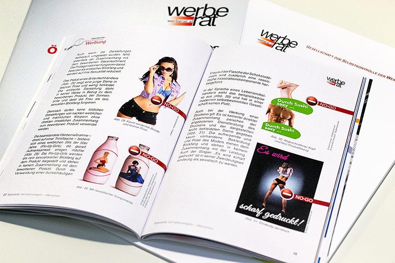 Sexistische Werbung in einer Broschüre
