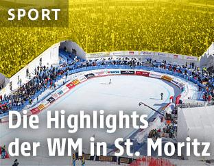 Der Zielbereich in St. Moritz