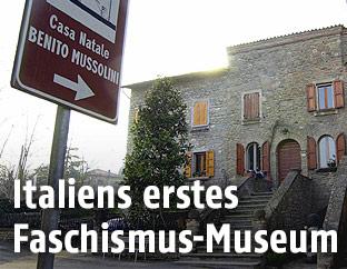 Geburtshaus von Benito Mussolini in Predappio