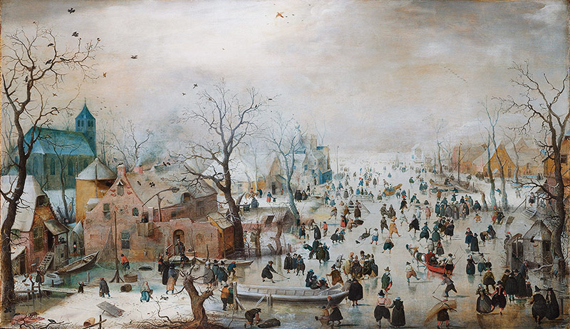 "Hendrick Avercamps ""Winterlandschaft"", circa 1608"