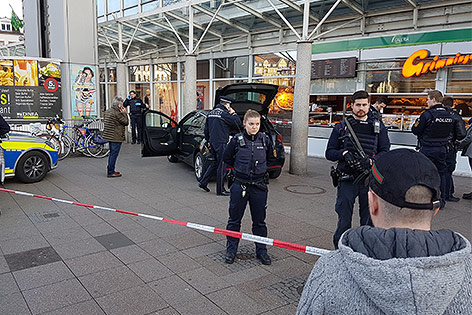 Polizisten in Heidelberg